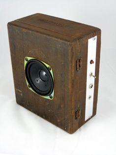Antique Cigar Box turned into a speaker--unique!