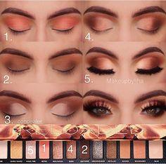 make up tutorial Makeup Eye Looks, Eye Makeup Steps, Smokey Eye Makeup, Skin Makeup, Eyeshadow Makeup, Makeup Tips, Beauty Makeup, Makeup Ideas, Makeup Tutorials