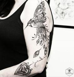 Ornamental Hummingbird http://tattooideas247.com/ornamental-hummingbird/