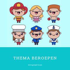 Beroepen: Versjes Stage, Comics, School, Spelling, Kids, Fictional Characters, Young Children, Boys, Children