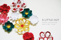 Petals Collection, SVG and PDF files