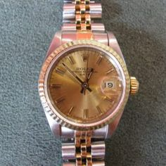 Ladies Rolex DateJust in Gold and Stainless Steel Galway Ireland, Steel Jewelry, Rolex Datejust, Luxury Watches, Gold Watch, 18k Gold, Stainless Steel, Antiques, Lady