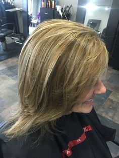 Pretty highlights and lowlights with a single process done by April Marie and Salon Bella Luca! Call and boon 440-951-1110 #prettyhair #highlights #lowlights