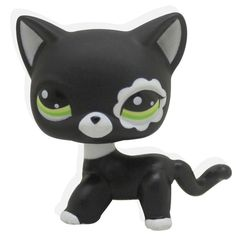 Rare Black Cat Blue Eyes Cute Kitten Littlest Pet Shop Toys Animals Kids Gift A great addition to any LPS collection Design your own LPS world, your way Cute, collectable pets Add to any pet collection A special gift to friends. families and children Little Pet Shop Toys, Little Pets, Lps Cats, Cat Toys, Kitten Toys, Gatos Lps, Flower Yellow, Rare Cats, Short Hair Cats