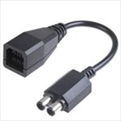 6-Pin Square Head to 2 Round Plugs Power Transfer Connection Cable for Microsoft XBOX360 Slim Controller