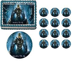 Halo 4 Master Chief Fighting Edible Cake Topper Frosting Sheet - All Sizes!