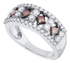 #blackdiamondgem 1.26 cttw 14k White Gold Brown Diamond Brown Diamond Wedding Band Anniversary Ring (Sizes 3-11) by Pricegems Diamonds - See more at: http://blackdiamondgemstone.com/colored-diamonds/jewelry/126-cttw-14k-white-gold-brown-diamond-brown-diamond-wedding-band-anniversary-ring-sizes-311-com/#sthash.w3XUDjkS.dpuf