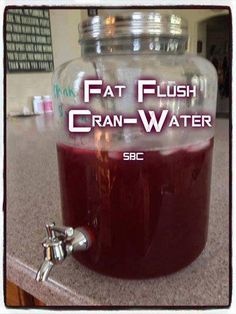 FAT FLUSH CRAN-WATER  Mix together: 1 ounce 100% pure unsweetened cranberry juice* 7 ounces water  To save time during the day, mix a full batch (64 ounces) in the morning — add 1 cup (8 oz) cranberry juice to a half-gallon container and fill the rest with water.  *Look for brands like Knudsen, Trader Joe's, Mountain Sun, or Simple Truth available at your supermarket or health food store. Fat Flush Cran-Water contains water mixed with pure unsweetened cranberry juice — how simple is that?…