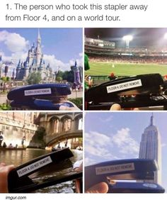 Stapler from Floor 4 has traveled more than me!