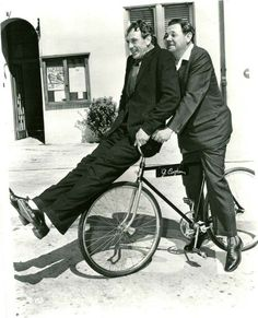 1914 Babe Ruth and Gary Cooper riding a bike through the Sts. Of Baltimore purchased with his first paycheck of $100