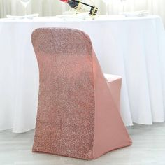 Gold Chair Covers, Folding Chair Covers, Metal Folding Chairs, Banquet Chair Covers, Dining Chair Covers, Metal Chairs, Rose Gold Top, Rose Gold Theme, Gold Wedding Theme