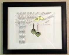 Personalized Wedding or Anniversary Gift - First Dance Lyrics Tree  - 10x13 Frame Optional