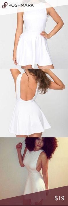 American Apparel white dress Sexy AA backless skater dress in white. XS American Apparel Dresses Mini