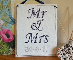 Buy Personalised Mr & Mrs Wedding/Anniversary Plaque Gift by Blue Jelly Moon at WowThankYou: https://www.wowthankyou.co.uk/blue-jelly-moon/products/