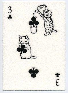 【画像あり】 トランプを模した猫のポストカードがとても可愛い件 : 〓 ねこメモ 〓