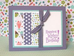 Stampin' Up!  Happiest Birthday Wishes  Ashley Marostica  Sweet Shop DSP