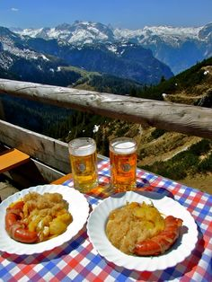 Lunch in the Bavarian Alps- I hope to do these when I'm in Germany!