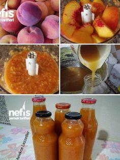 Doğal Şeftali Suyu (Kışa Hazırlık Nektari) Tarifi nasıl yapılır? 5.912 kişinin defterindeki bu tarifin resimli anlatımı ve deneyenlerin fotoğrafları burada. Yazar: Melekce Lezzetler Gelato Recipe, Alcoholic Drinks, Beverages, Homemade Lemonade, Vegetable Drinks, Delicious Fruit, Turkish Recipes, Hot Sauce Bottles, Food To Make