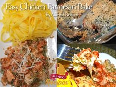 Another great weeknight recipe! Only one baking pan needed, plus a pot to cook spaghetti in, if you want to serve it on top of pasta. It would also be great with a nice chunk of bread. Check out the video below to see how easy to make:  Easy Chicken Parmesan Bake yield: 4 Ingredients: 16 oz already cooked rotisserie chicken 16 oz marinara sauce 1 cup shredded mozzarella ½ cup shredded parmesan 1 cup panko or other type (Italian breadcrumbs work great) 1/4 cup fresh or dried herbs, I use…