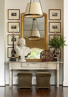 We're using a huge mirror over a client's fireplace that I absolutely love and it got me thinking how much I love mirrors in home design. ...