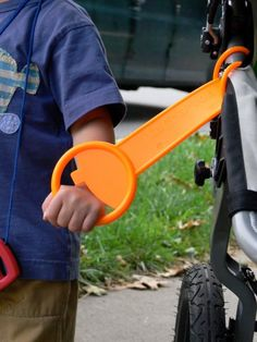 Favorite Stroller Accessory - The Tag-A-Long. My son loves t help push the stroller or kart. Good idea