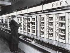 Berenice Abbott | Automat | 1936  This was a magical place for me when we went to NYC in the 40's and 50's.