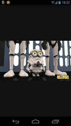 So Adorable! Storm trooper Minion. Minions Despicable Me, Cute Minions, My Minion, Minion Art, Minions 2014, Evil Minions, Star Wars, Cultura Pop, Cosplay Characters