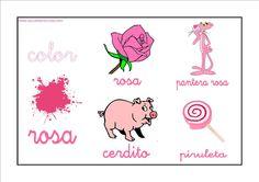 Colores - Rosa http://www.educapeques.com/recursos-para-el-aula/los-colores-fichas-para-aprender-y-repasar.html