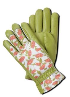 Rosa Chinensis Garden Gloves with a gorgeous rose print General