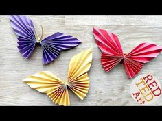 Easy Paper Butterfly Origami - Cute & Easy Butterfly DIY - Origami for Beginners - YouTube