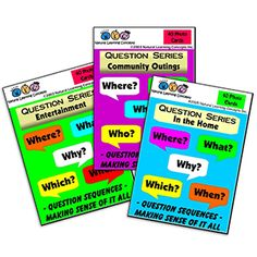 Set of 3 Wh-Questions Cards