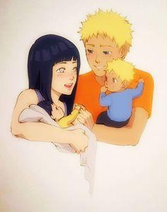 Naruto, Hinata, Boruto e Himawari (NaruHina) Naruhina, Naruto Uzumaki, Anime Naruto, Tenten Y Neji, Naruto Cute, Naruto And Sasuke, Narusasu, Sasunaru, Couples Anime