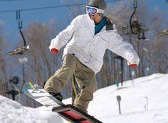 Snowboarding in Pure Michigan