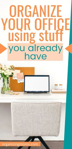 Working from home? Repurpose things you already have to put together an organized, efficient home office. Organizing Paperwork, Paper Organization, Organizing Your Home, Organizing Tips, Organized Mom, Getting Organized, Office Filing System, Office Files, Household Chores