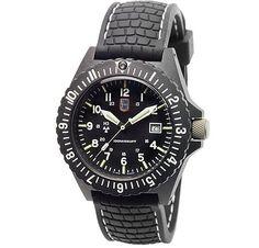 Lumi-Time Carbon Uhr mit H3 Tritium Beleuchtung - 12175