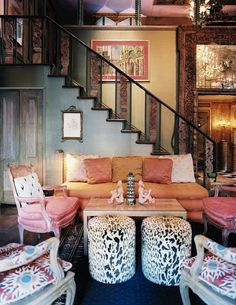 I love the staircase and the walls mostly.. dont care for the pink on the furniture