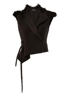 ANN DEMEULEMEESTER Asymmetric Gilet. #anndemeulemeester #cloth #gilet