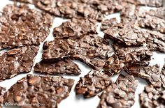 Crunchy toasted almonds and rich dark chocolate come together to make one terrific almond bark that is easy to make and even easier to enjoy.
