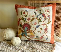 Armenian letters pillowcase. Hand painted  letters from Armenian alphabet .Ready to ship.