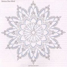 Crochet star diagram by johnPatterns and motifs: Crocheted motif no.World crochet: My works 103 Crochet Snowflake Pattern, Crochet Doily Diagram, Crochet Stars, Crochet Circles, Crochet Snowflakes, Crochet Doily Patterns, Thread Crochet, Crochet Doilies, Crochet Flowers