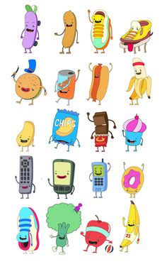 Character Designs by Juan Molinet, via Behance