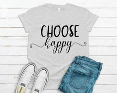 Choose Happy Svg, Inspirational Svg, Saying Svg file for Cricut, Cricut Designs, Happy Svg, Instant Download, Image transfer Svg Angel Silhouette, T Shirt Transfers, Christmas Ornaments To Make, Silhouette Designer Edition, Daughter Love, Svg Files For Cricut, Cutting Files, Inspirational, Happy