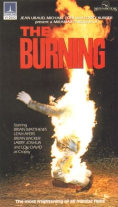 The Burning (Thorne/EMI) 1981 slasher classic about a camp caretaker who is mutilated after a prank gone wrong taking vengeance on teens. All Horror Movies, Classic Horror Movies, Horror Movie Posters, Sci Fi Movies, Horror Films, Scary Movies, Film Posters, Awesome Movies, Comedy Movies
