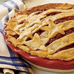 Stars-and-Stripes Cherry Pie Coastalliving.com