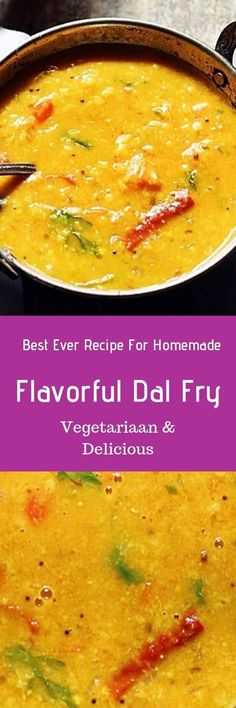 Dal fry recipe with step by step photos. learn how to make punjabi dal fry recipe using toor dal with this easy recipe. Lentil Recipes, Curry Recipes, Soup Recipes, Vegetarian Recipes, Indian Dal Recipe, Indian Food Recipes, Real Food Recipes, Ethnic Recipes, Channa Recipe