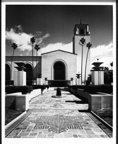 Los Angeles Union Station, after 1934 :: Library Exhibits Collection Usc Library, University Of Southern California, Cinema Posters, Union Station, Old Buildings, Toulouse, Digital Image, Angels, Hollywood