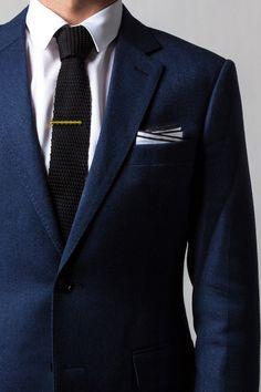 Black knit tie on Ties.com #tiesdotcom #winter #black #mensfashion #mensaccessories