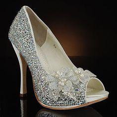 crystal encrusted wedding heels