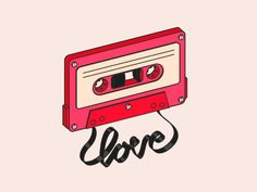 Music is Love cinema cassette cassette tape eyedesyn motion graphics sketch and toon tape line art Music Wallpaper, Cartoon Wallpaper, Loop Music, Retro, Animated Icons, Ligne Claire, Tape Art, Cute Gif, Cinema 4d