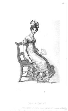 Evening Dress from Ackermann's Repository of the Arts May 1818